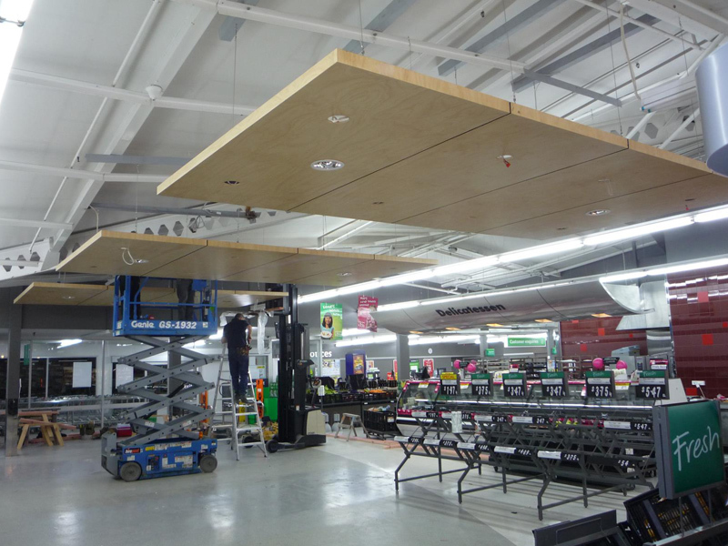 commercial construction Rotorua: suspended ceiling installation